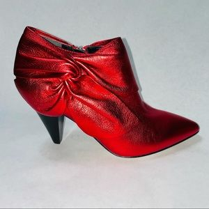 Paige Catrine Metallic Red Heeled Boots